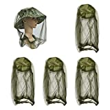 4 Pack Mosquito Head Net for Hats Anti-Insects Face and Neck...
