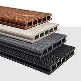 Fylde Decking | 3.6m Composite WPC Decking Boards - Deep Embossed...