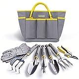 Jardineer Garden Tool Set - 8Pcs Gardening Tool Set for Women...