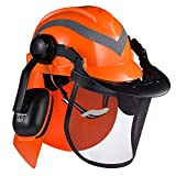 SAFEYEAR Pro Forestry Chainsaw Safety Helmet with Adjustable...