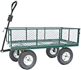 Garden Cart Extra Large Outdoor Trolley, Towable, Large Wheels,...