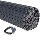 WOLTU GZZ1184gr4 PVC Fence Screen Bamboo Slat Style Opaque...