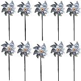 Reflective Pinwheels Birds Deterrent 10 PCS Bird Repellent...