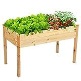 Raised Bed for Garden,Wooden Raised Planter for Vegetables Fruits...