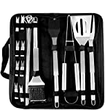 Coocnh 20pc Heavy Duty BBQ Grill Tool Set in Case - The Very Best...