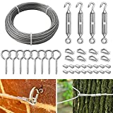 36Pcs Garden Wire Kits Fence Roll Kits, Outdoor Wire Rope Cable...