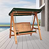 Tropicana 6ft 2 Seat Wooden Garden Swing Chair Seat With Canopy,...
