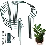 10 Pack Plant Supports Metal Interlinking Plant Support Ring 40cm...
