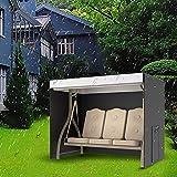 Garden Swing Cover 3 Seater Waterproof Windproof Heavy Duty Rip...