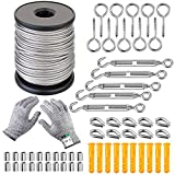 58 Pcs Garden Wire Picture Wire Cable Railing Wire Fence Roll...