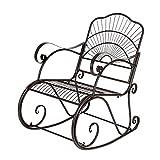 Bonnlo Garden Metal Rocking Chair Outdoor Patio Vintage Style...