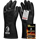 BBQ Gloves Heat Resistant High Temperature - Grill, Barbecue...