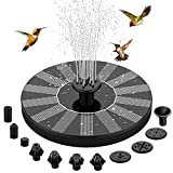 Solar Fountain Pump, 10 Nozzles Solar Powered Bird Bath Water...