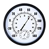 Thermometer Hygrometer Indoor Outdoor - Hanging Wall Weather...