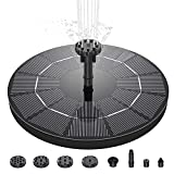 WOHOOH Solar Fountain Pump, 3W Circle Solar Water Features for...