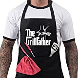 Funny BBQ Apron Novelty Aprons Cooking Gifts for Men 100% Cotton...