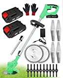 Strimmer Cordless with Battery and Charger 24V Telescopic Grass...