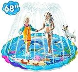 iBaseToy Sprinkler for Kids, 68'/170cm Splash Pad Sprinkler...