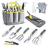 Jardineer 11PCS Gardening Tools Set, Garden Tool Kit with Outdoor...