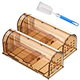 Godmorn Humane Mouse Trap 2 Pack with Cleaning Brush, 20cm Large...