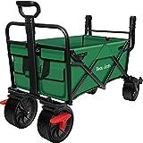 BEAU JARDIN Folding Garden Wagon Trolley 80KG Capacity Outdoor...