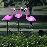 Outdoor Solar Lights, newfen 3Pack Flamingo Garden Led Stake...