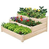 Yaheetech 3 Tier Raised Garden Bed Wooden Plant Raised Bed...