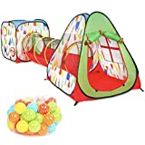 Milliard Kids's Pop Up Play Tent and Tunnel for Indoor and...