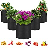 5-Pack 10 Gallons Non-wovenFabrics Grow Bags For Tomatoes Seed...