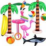 Evance 14 Pack Inflatable Palm Trees Inflatable Flamingo Hat Pool...