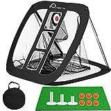 FINGER TEN Golf Chipping Net and Mat for Garden Indoor Practice...