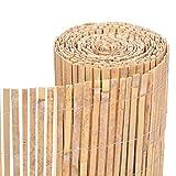 Homatz Bamboo Slatted Fence - Screening Roll Privacy Border,...