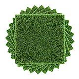 8 Pieces Artificial Garden Grass, 15 * 15CM Artificial Turf...