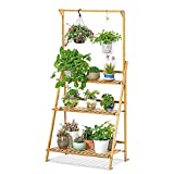 3-Tier Bamboo Plant Stand, Stable Reliable and Durable, Plant...