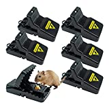 HOMEREVEL- Reusable Mouse Trap, 6 Pack Mouse Traps for Indoors...