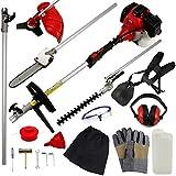 52CC Garden Multi Function Tool 5 in 1 Strimmer, Chainsaw, Grass...
