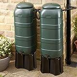Rainsaver Mini 100 litre Green Water Butt Double Ki
