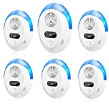 MIKOO Ultrasonic Pest Repeller 6 Pack, Upgraded Electronic...