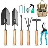 MOSFiATA Garden Tools Set 12 pcs Hand Kit Gardening Tools Set...