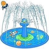 LUKAT UFO Splash Pad, 68' Sprinkler Mat for Kids Sprinkle and...