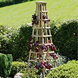 New Solidwood Garden Obelisk for Climbing Plant Support Large...
