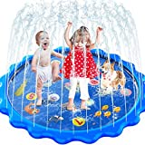 Toddler Toys - Splash Pad, Sprinkler & Splash Play Mat for...