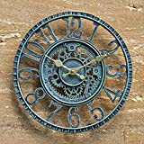 SA Products Vintage Wall Clock - Classic, Rustic-Style Indoor &...
