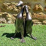 Vintage Duck Garden Statue Sculpture Pair Of Love Ducks...