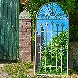 Woodside Bexley XXL Decorative Outdoor Garden Arch Mirror, White...