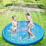 Anpro 172cm/68' Sprinkle and Splash Play Mat, Sprinkler Pad for...