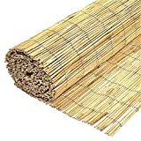 Wilsons Direct Natural Peeled Reed Fence Wooden Garden Screen...
