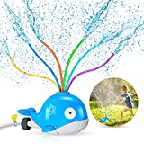 iBaseToy Whale Water Sprinkler for Kids, Sprinkler Toy with...