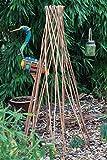 GOLDBEARUK Peeled Willow Obelisk Natural Plant support cage...