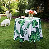 3E Home Round Patio Outdoor Tablecloth Waterproof Anti Wrinkle...